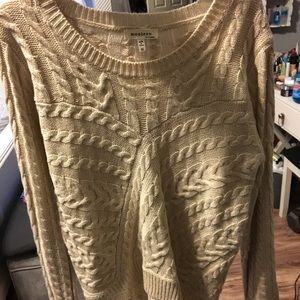 Knit sweater with lace on bottom